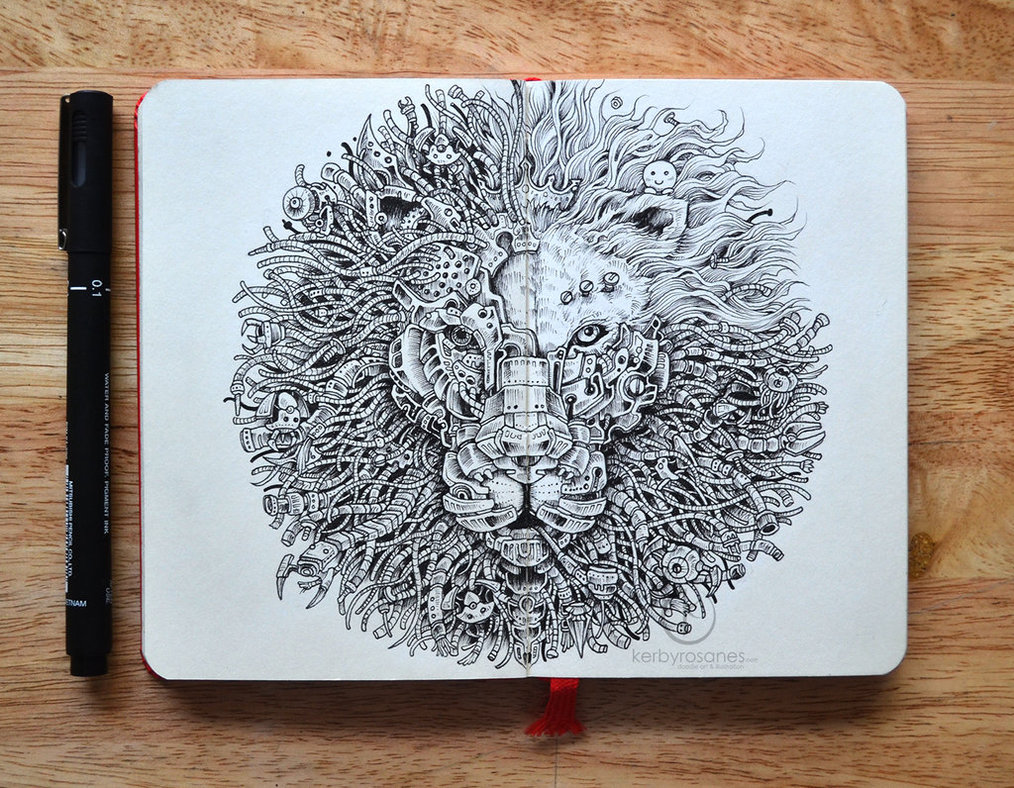 moleskine_doodles__the_king_s_awakening_2_0_by_kerbyrosanes-d84bc04