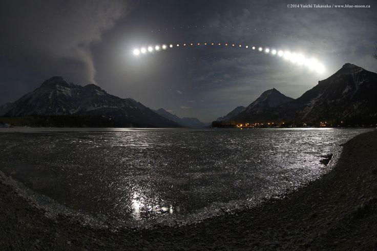 otal Lunar Eclipse over Waterton Lake by Yuichi Takasaka