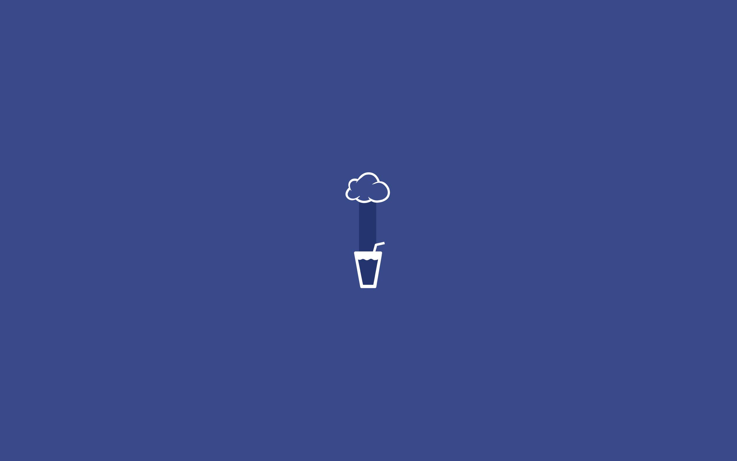 Glass Rain Minimalist Wallpaper Blue