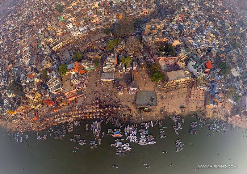 Aerial shot, Varanasi
