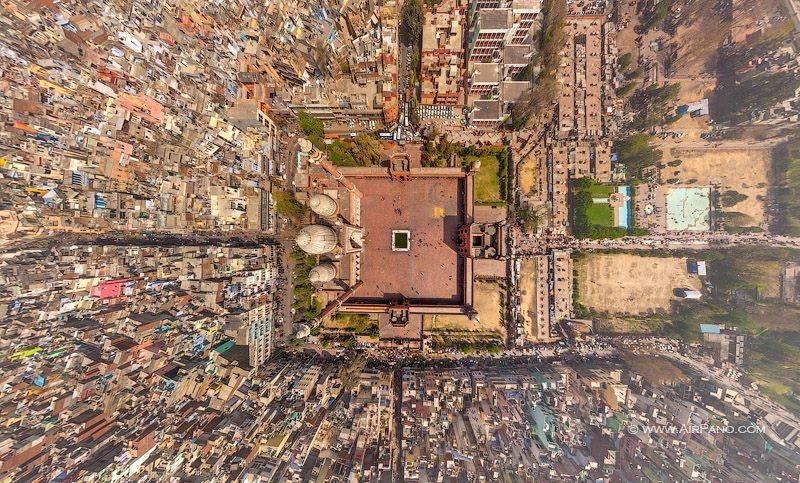 Jama Masjid Delhi Aerial Shot
